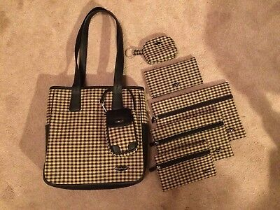 Longaberger Homestead Purse / Tote and accessories. Khaki check