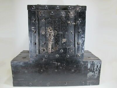 18th/19th C European iron safe box # 20050b