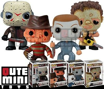 Funko Pop! Horror Freddy Jason Michael Myers Leatherface Set Of 4 Vinyl Figures