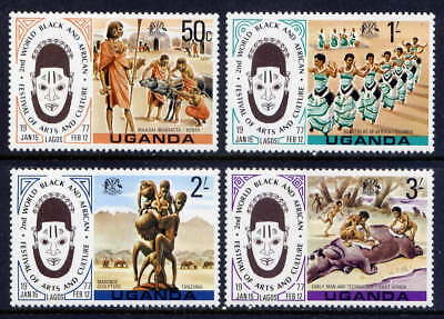 UGANDA Sc#163-6 1977 2nd World Black and African Festival MNH