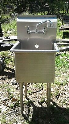 "Used Commercial Stainless Steel Sink 18"" x 18"" x 16"""