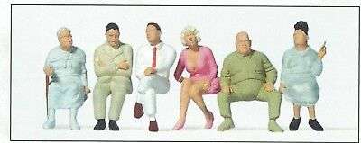 Seated passengers Preiser 65500 standardserie Figurines Scale 1:43 O Gauge OB