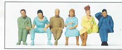 Seated passengers Preiser 65501 standardserie Figurines Scale 1:43 O Gauge OB