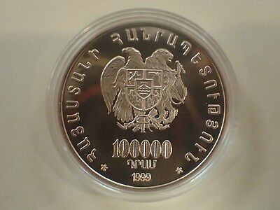 1999 Armenian Gold Coin Noah descending from Ararat 900 Gold 100000 drams W/CERT