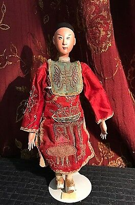 Antique Chinese Opera Doll Signed