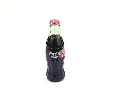 1996 Coca Cola Classic Official Drink of NASCAR Glass Full Soda Bottle 8 oz