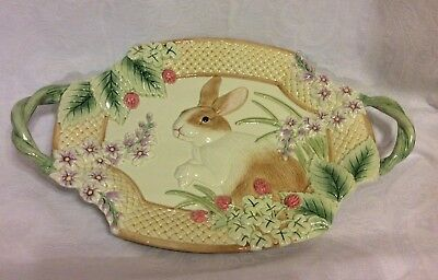 Fitz & Floyd Botanical Bunny Easter Serving Platter