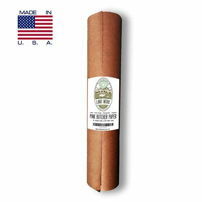 "Pink Butcher Paper Roll 18"" X 200' FEET, Kraft Wrapping Paper for Beef Briskets"
