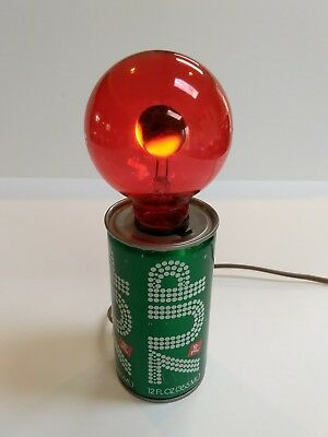 7-Up Vintage Can Light With Flickering Bulb-Works Great..so Cool!