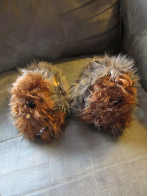 Star Wars The Force Awakens Chewbacca Fur Plush Toddler Slippers XL 11/12