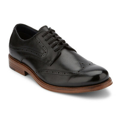 Dockers Men's Hanover Genuine Leather Lace-up Wingtip Brogue Oxford Dress Shoe
