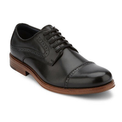 Dockers Men's Bateman Genuine Leather Lace-up Cap Toe Brogue Oxford Dress Shoe