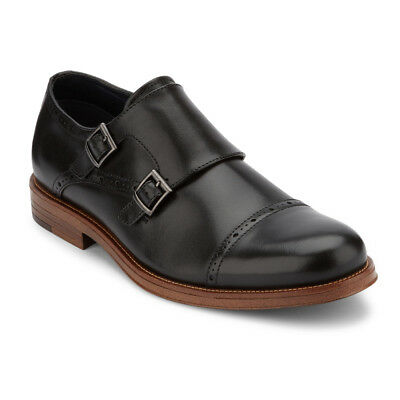 Dockers Men's Maycrest Genuine Leather Double Monk Strap Buckle Dress Shoe