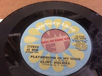 Clint Holmes Shiddle -Ee - Dee ~ Playground In My Mind  45 7  W