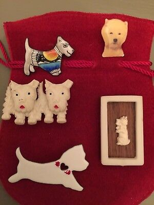 Mixed Lot Of Novelty Westie Terrier Jewelry
