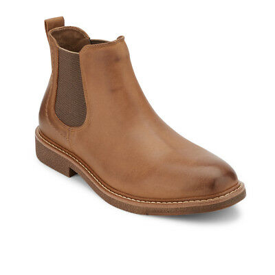 Dockers Men's Stanwell Genuine Leather Chelsea Boot with NeverWet®