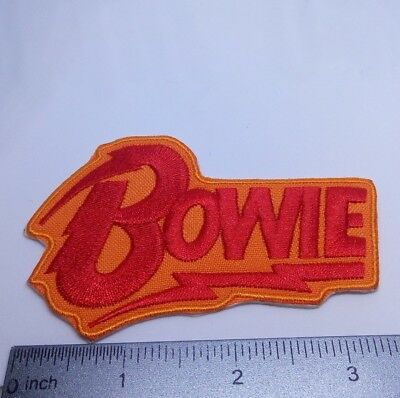 PUNK ROCK HEAVY METAL MUSIC SEW DAVID BOWIE ZIGGY STARDUST IRON ON PATCH: