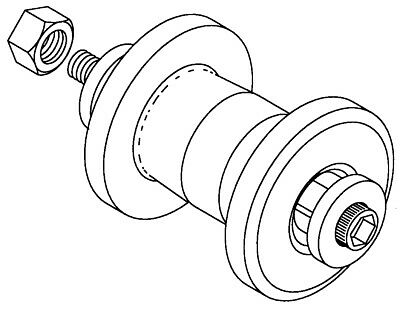 Carrying Table Wheel Assy