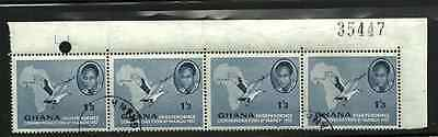 Ghana Postal Issue - 1957 -  Independence 1/3 Stamps - Used Strip Of 4