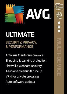 Avg Ultimate 2018 - For Unlimited Devices - 2 Year - Download