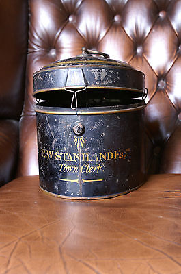 BOSTON TOWN CLERK   WIG TIN. BELIEVED TO BE EARLY 20th CENTURY  R W  STANILAND