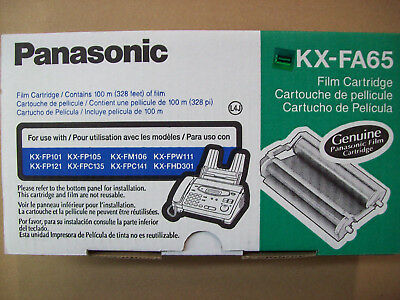 KX-FA65 new genuine Panasonic fax film cartridge 037988801862