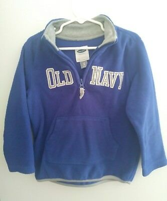 Old Navy Size 4T Toddler Boy Pullover Sweat Shirt Zip Collar A0322