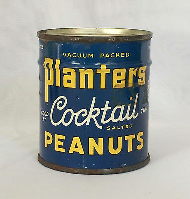 Planters Mr. Peanut Full Canadian Can of Cocktail Peanuts 4 oz