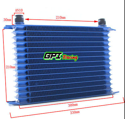 Universal 15 Row An-10an Universal Engine Transmission Oil Cooler BLUE