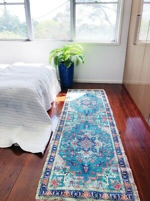 NEW Modern Bohemian  Upcycled Rug Runner