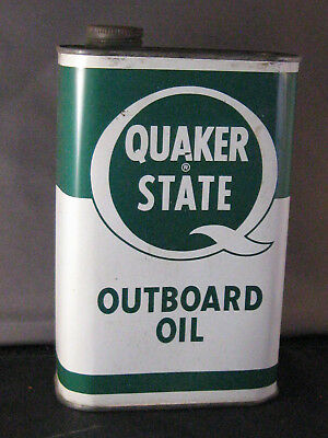 Quaker State Outboard Oil, Metal Can Quart Size
