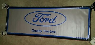 Ford ANTIQUE TRACTOR BANNER SIGN DISPLAY IMPLEMENT
