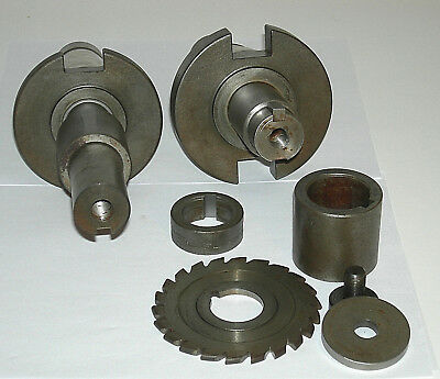 Two (2) 50 taper NMTB50 arbors for keyway slotting saw shell mill Beaver, Poland
