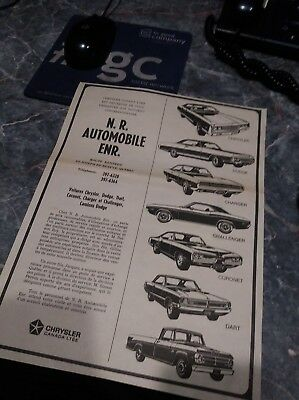 dodge ad charger dart challenger 70 rare canadian poster 340 rt coronet photo