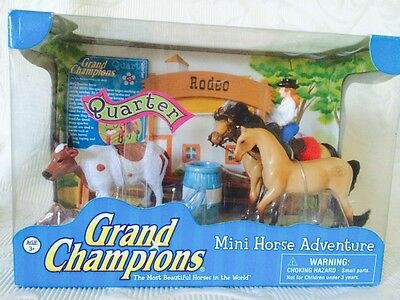 Empire Toys Grand Champions Mini Horse Adventure Quarter 51005 2008 HTF New