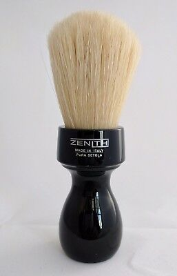 Retro Black Resin Boar Shave Brush by Zenith 27 x 57 mm Knot. Made in Italy. B23