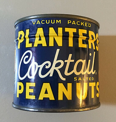 Planters Mr. Peanut Full Can of Cocktail Peanuts 7 1/4 Ounce