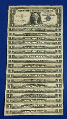 1957-1957B $1 Blue SILVER Certificates SEt of 19 assorted VG/FINE! Currency