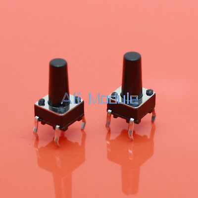 100pcs Momentary Tact Tactile Push Button Switch 4 Pin DIP Through Hole 6x6x11mm