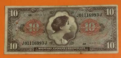 Military Payment Certificate Series 641 $10 Old US Paper MOney Currency MPC