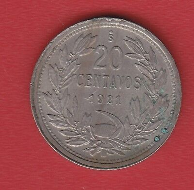 Chile 20 Cents 1921