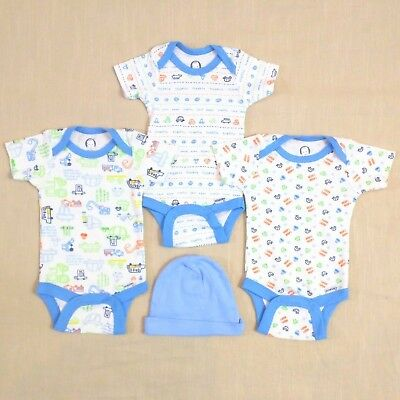 NEW - GERBER Baby Boys 0-3M Baby Boys Traffic Theme Layette LOT - Onesies, Hat
