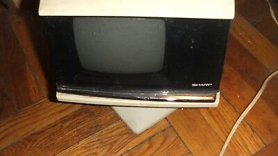 Sharp Vintage Portable TV Television Space Age Iconic Design As-is