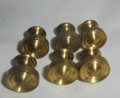 Antique vintage heavy brass drawer pulls knobs lot of 6 small furniture repair