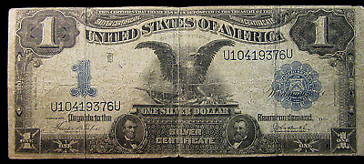 1899 $1 Silver Certificate - Black Eagle - Date Right. Circulated. NR! (218200)