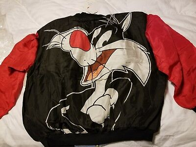 L American Characters Looney Tunes Sylvester cat Silk Jacket 1995 Vintage nwt