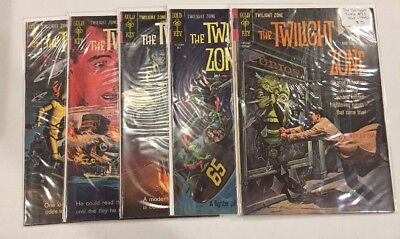 Silver Age Gold Key Comics Twilight Zone lot 5 issues 10 to 14 all VG or better