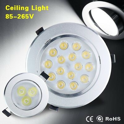 Dimmable 3/5/7/9/12/15/18W LED Recessed Ceiling Panel Downlight Spot Light Bulbs