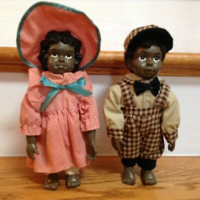 African American Dolls Boy and Girl Adorable!