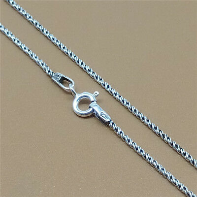925 Sterling Silver Rope Chain Necklace Bali Twist Chain 1.2mm 16 18 20 22 24